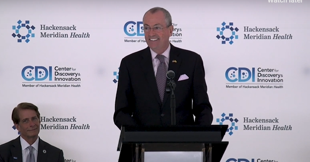 NJ Governor Phil Murphy at Center for Discovery & Innovation Ribbon-Cutting